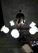 lampu gantung kuningan sederhana