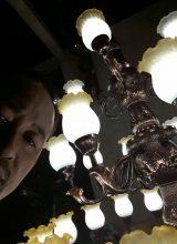 lampu gantung tembaga mewah besar