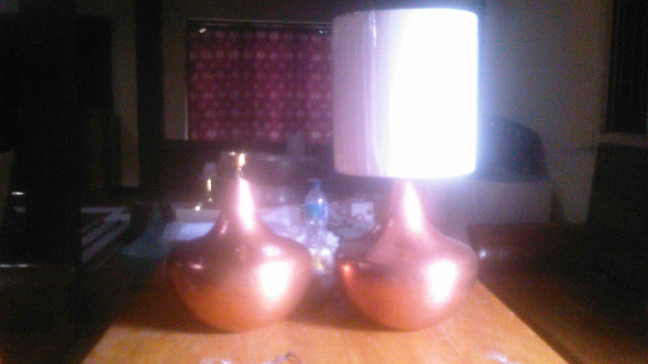 lampu meja tembaga