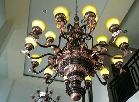 lampu gantung ukir tembaga