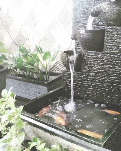 air mancur kolam ikan
