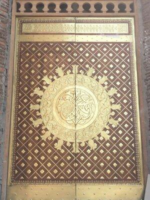 ornamen pintu masjid tembaga